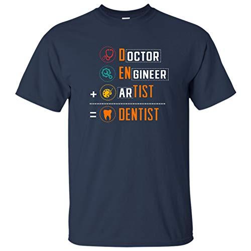 Bee-Viral Doctor Engineer Artist = Dentist   Funny Gift for Dentist Dental Hygienist, Dental Studentt T-Shirt (Navy - XL)