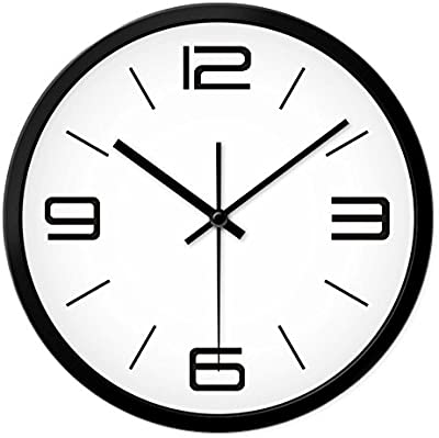 Jedfild Personalized Stylish Digital World Time Zone Wall Clock Drawing creative mute Quartz watches, 12