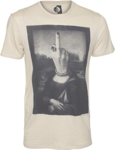 Volcom Herren T-Shirt Mona Short Sleeve Lightweight, Bone, XS
