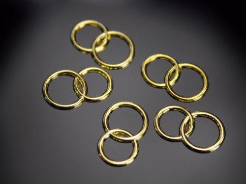 25 Deko Ringe gold Streuteile Scrapbooking Tischdeko Streudeko Hochzeit