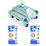 Pool Cleaner Pressure Side Vacuum Cleaner Bundled w/ Replacement Filter (2Pack)