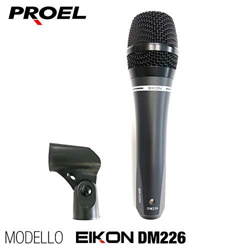 PROEL EIKON DM226 - Microfono palmare dinamico + custodia per uso karaoke, voce, canto, ecc, senza interruttore (DM226)