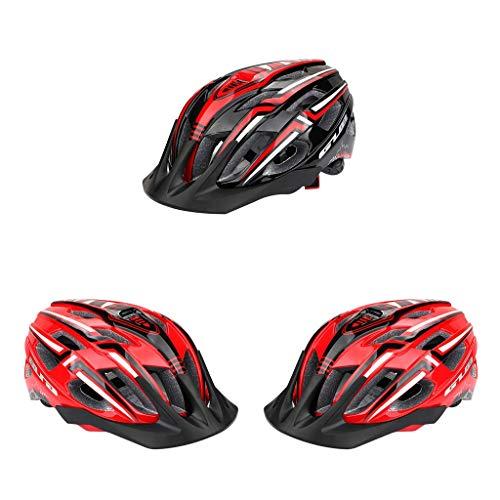 freneci 3X Hombres Mujeres Casco de Bicicleta LED Light Road Mountain Casco USB Recargable