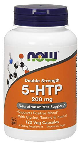 Now Foods 5-HTP Double Strength Capsules, 200 mg, 120-Count