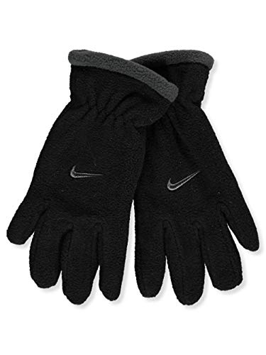 Nike Boys Youth Fleece Gloves - Size: 8-20, Black