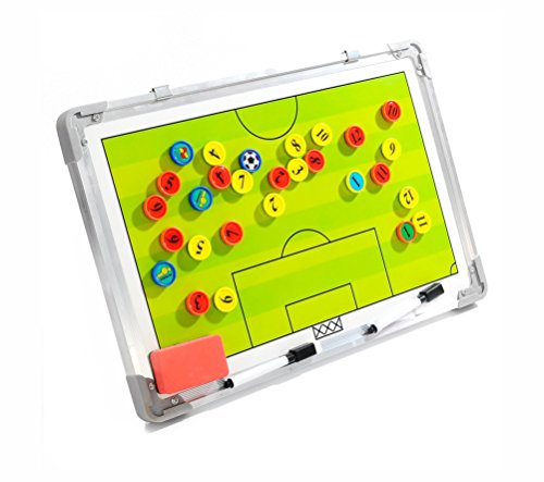 Wrzbest Football Soccer Coaching Board Coach Tactic Strategy Board Match Plan & Training Aid Whiteboard Clipboard Coach Equipment (W Style)