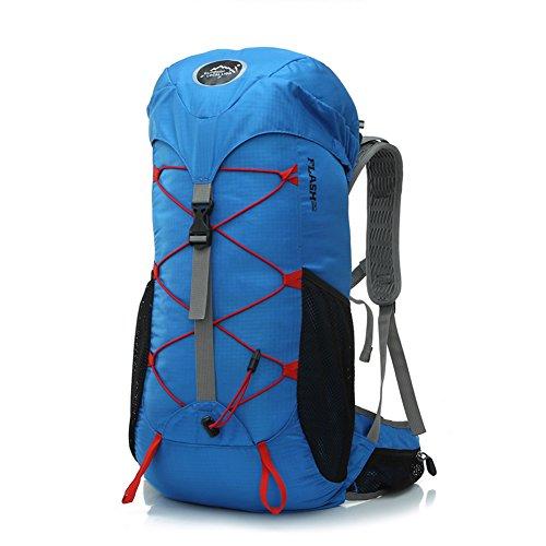 Diamond Candy Zaino da Trekking Outdoor Donna e Uomo con Protezione Impermeabile per alpinismo arrampicata equitazione ad Alta Capacit¨¤ borsa da viaggio,Multifunzione, 35 litri Blu reale