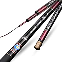 釣り道具セット 河川塩水淡水、3.6m-6.3mの釣り竿の携帯用伸縮式超軽量炭素釣り竿 最高の贈り物 (Size : 4.5M)