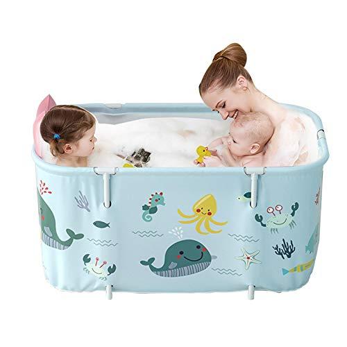 Enjoyyouselves Klappbadewanne, Tragbare PVC Erwachsene Nicht Aufblasbare Badewanne Spa-Haushaltsbadewanne für Spa Sauna Massage 120x55x50cm