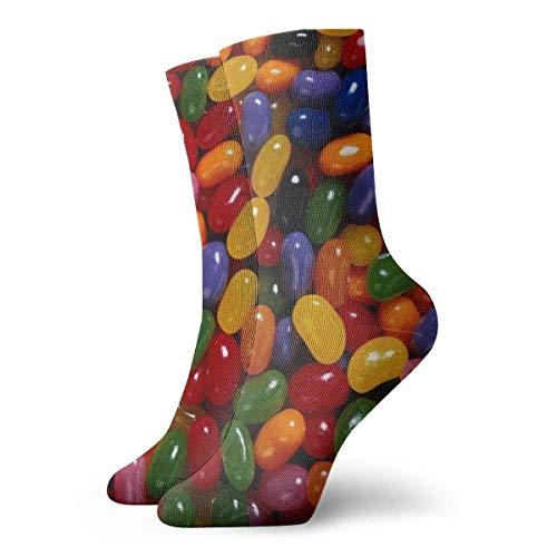 BEDKKJY gekleurde snoepjes volwassen korte sokken katoen Gym sokken voor mannen Womens Yoga wandelen fietsen hardlopen voetbal sport