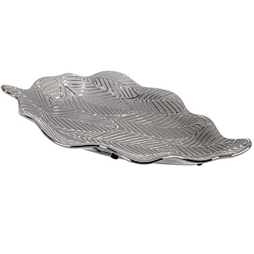 Vidal Regalos Centro De Mesa Hoja Ceramica 35 cm