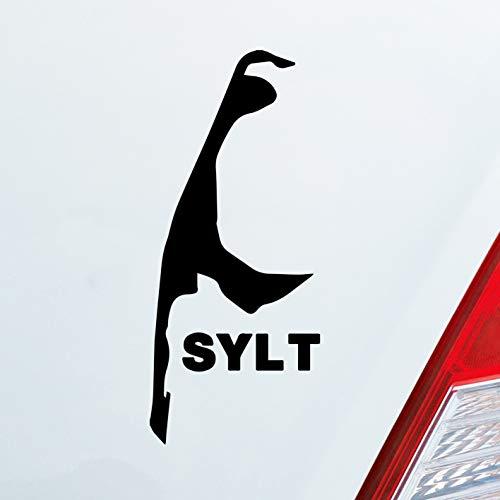 Auto Aufkleber in deiner Wunschfarbe Sylt Spaß Insel Luxus Germany Deutschland 10x4,5cm Autoaufkleber Sticker Folie