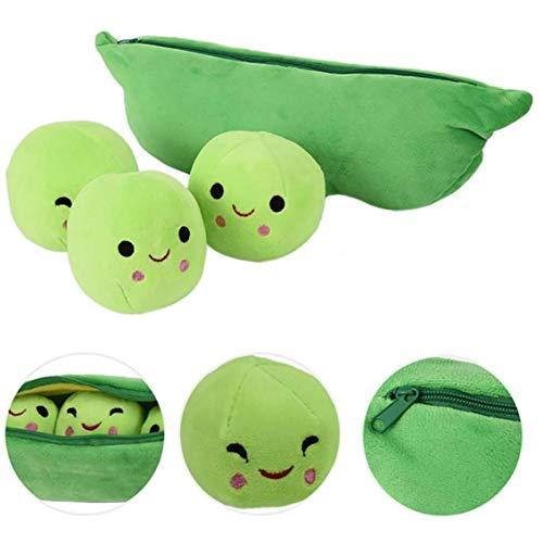 Erbsen-in-a-pod Spielzeug Plüsch Nette Erbsenschote Form Pflanze Kissen Simulation Gemüse Puppe Stuffed Weiches Kreatives Lustiges Spielzeug