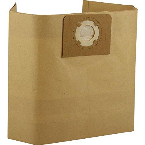 Kenekos 12 stofzuigerzakken nat- en droogzuiger/industriële zuiger, stofzak van papier met stevige kartonnen afdekking, zak met ca. 30 liter volume.