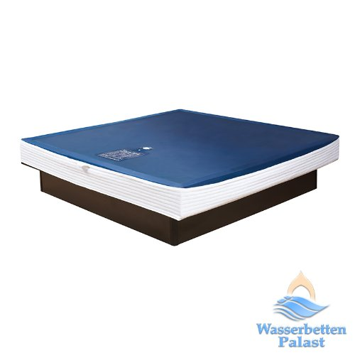Premium Comfort Wasserkern für Wasserbett oder Wasserbettmatratze - für Bettgröße 140x200 cm - Bettaufbau: Solo - Softsideumrandung: innen gerade - Höhe innen: 10-12 cm - Beruhigungsstufe 90% / F3