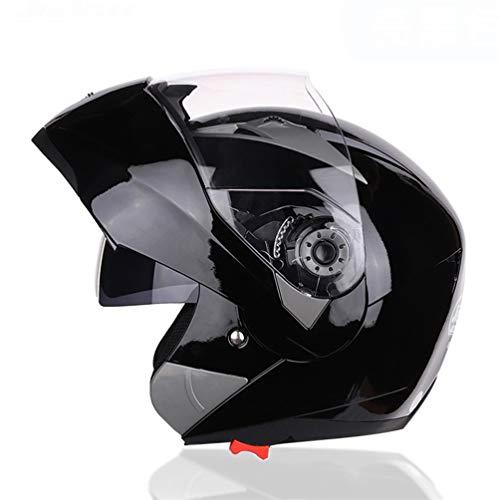 Casco de moto abatible Modular con doble cristal Casco negro Sunny Visor Casco de moto Racing Cascos de choque para motos Casco de cara abierta