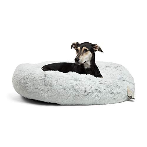 Best Friends by Sheri Calming Shag Vegan Fur Donut Cuddler (36x36, Zippered) –...