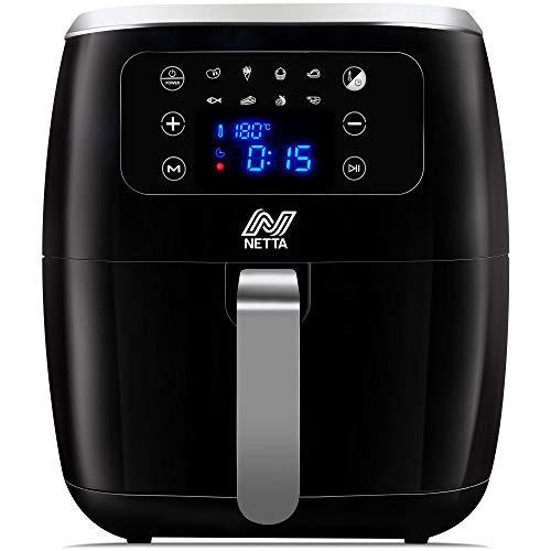 NETTA 6L Digital Air Fryer - Digital Screen, Drawer and Detachable Non-Stick Frying Tray - 1800W