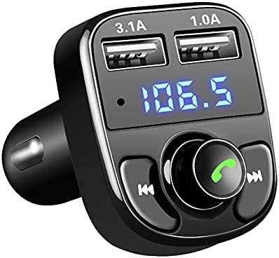 FM Transmitter Audio MP3 Player 3.1A Quick Charge Dual USB Car Charger Blue Tooth Kit Car