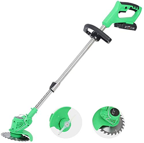 Electric Grass Trimmer Lawn Mower Brush Pruning Cutter Kit Garden Tools with Replace Blade,Ideal for Trimming Weeds & Cutting Grass Lawn Edges - 21V