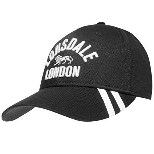 Lonsdale Herren Baseball Cap Gr. One Size, schwarz/grau