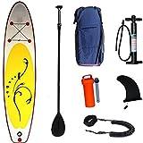 CDPC Tablas inflables de Remo (6 Pulgadas de Grosor) Sup Paddleboarding Bote de pie con Paleta Ajustable, Mochila, Bomba de Mano, Kit de reparación, para jóvenes, Adultos, Pesca, Yoga
