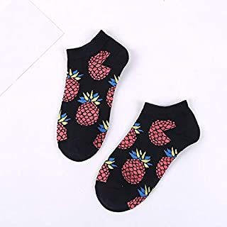 Calcetín de algodón para Mujer Calcetines para Mujer Primavera Verano Algodón Calcetines Cortos Imprimir Calcetín Divertido Mujer
