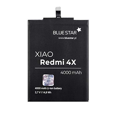 Blue Star - Batería Blue Star para Xiaomi Redmi 3/3S/3X/4X (BM47) 4000 mAh Li-Ion