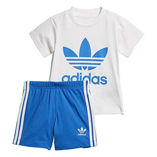 adidas I Short tee Set - Conjunto Deportivo, Bebé, Blanco(Blanco/AZUCIE)