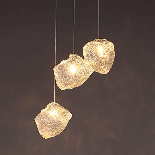 Lámpara Colgante De Cubo De Hielo De Simplicidad Moderna, Araña De Cristal Creativa Lámpara Colgante De Techo Nórdica E27 Sala De Estar Restaurante Café Decoración Lámpara Colgante Hogar