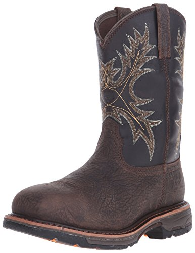 Ariat Men's Workhog Wide Square Composite Toe Work Boot, Bruin Brown, 12 D US
