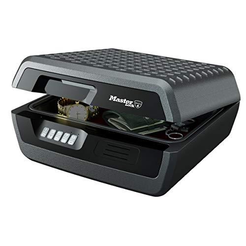 Master Lock LCFW30100 Caja Fuerte Portatil Ignifuga y Impermeable con Llave Large Adecuada para A4 Documentos, Dispositivos Electrónicos, Soporte Multimedia, Pequeños