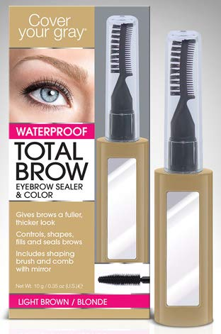 Cover Your Gray Waterproof Total Brow Eyebrow Sealer & Color Light Brown/Blonde (Pack of 4)