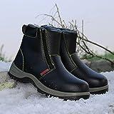 Zapatos de Trabajo Zapatos de Seguridad, Anti-Rotura para Hombres, Anti-Piercing, Puntera de Acero, Lugar de Trabajo Impermeable, Zapatos de Trabajo, Botas de Seguridad Especiales livianas