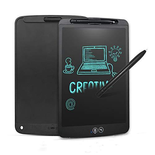 NEWYES Tablero de Escritura LCD Borrado Parciál y Total | Tableta Gráfica | Pizarra Electrónica Portatil Ideal para Ahorrar Papel en la Oficina con Botón de Bloqueo (Negro)