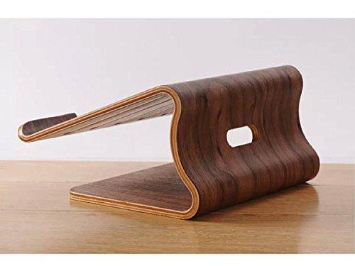 System-S Echtholz Universal Notebookständer Laptop Netbook Ständer Halter Holz Ergonomisch in braun