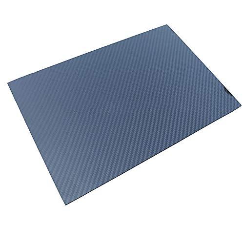 SOFIALXC 3K Carbon-Faser-Blatt 100% Carbon-Brett-Laminat-Twill glänzende Oberfläche-250x500mm-2mm