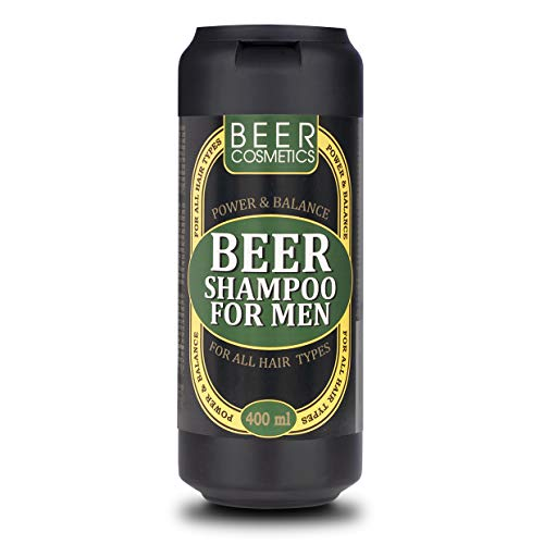 Champú para Hombres con Aceite Esencial de Enebro 400ml - Champú de Cerveza para Hombres - Set de Regalo para Él - Extracto de Lúpulo - para Todo Tipo de Cabello - Cuidado del Cabello para Hombres