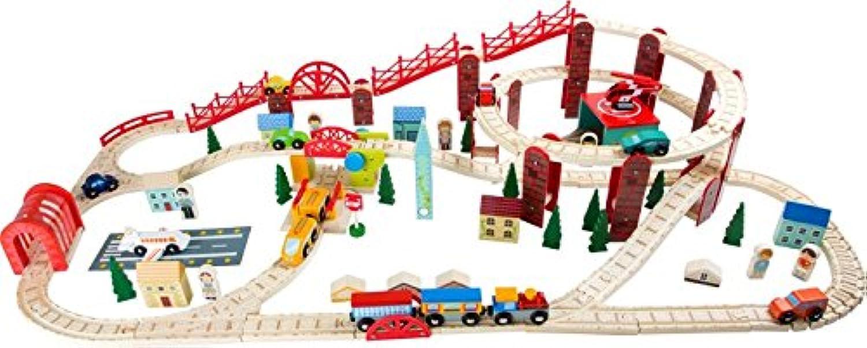 Wooden Train Railway My City