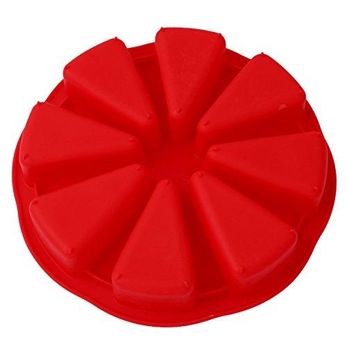 LALANG Silicone Moule à la Boulangerie Moule à Pain Moule a Gateau Moule au Chocolat Moule de Pizza Outils de Cuisson (Rouge)