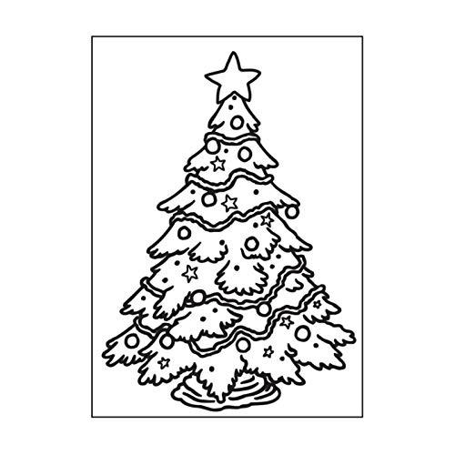 Darice Christmas Tree A6 Embossing Folder 10.7 x 14.6 cm