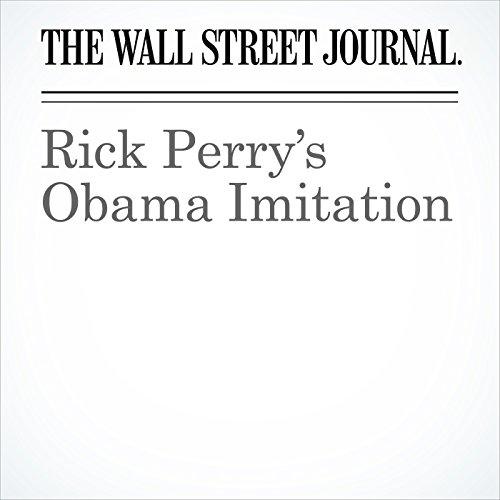 Rick Perry's Obama Imitation copertina