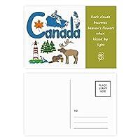 カナダの国家の象徴のランドマークのパターン 詩のポストカードセットサンクスカード郵送側20個