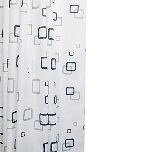 Rideau de Douche 100 % Polyester avec 12 Anneaux 200x 240cm