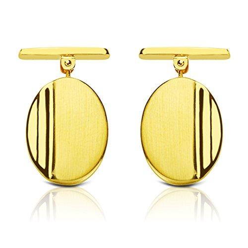 Boutons de manchette pour homme jean pierre or jaune 1 Loi 750 18 carats