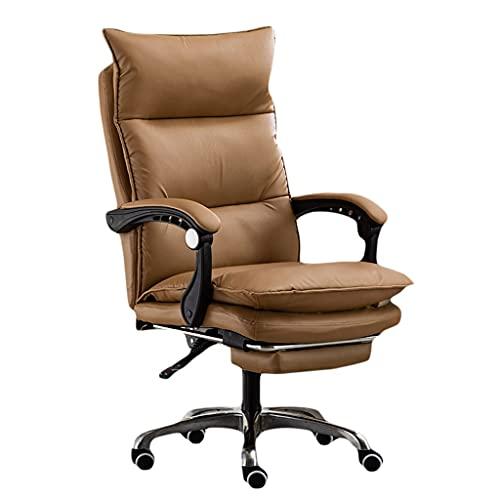 Silla de Oficina Sillas de Escritorio de sillas de Oficina, Silla ergonómica de la Oficina de la computadora de la computadora de la Espalda Alta con Retroceso con el reposapiés retráctil