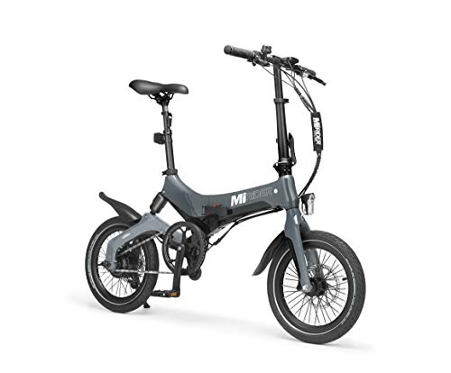 MiRiDER One (2021 Edition) Folding Electric Bike - Lightweight Foldable eBike | Thumb Throttle With Pedal Assist (Grey)