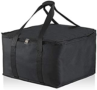"""Food Delivery Commercial Insulated Bag 16"""" x 17"""" x 10 1/2''. Premium Food Bag Warmer with Extra Strength Zipper. Hot Food Delivery Bag for GrubHub, Uber Eats, Groceries, DoorDash & Restaurant Catering"""