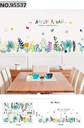 Aomerrt raamfolie, raamfolie, wandsticker, vinyl, snel te verwijderen, decoratie voor huis, bloemen, voor Windows spiegel