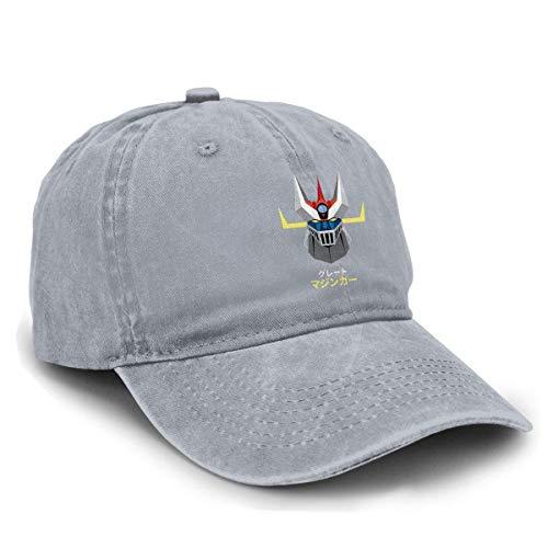 Shichangwei Great Mazinger Z Comfortable Unisex Adult Adjustable Denim Hats Black